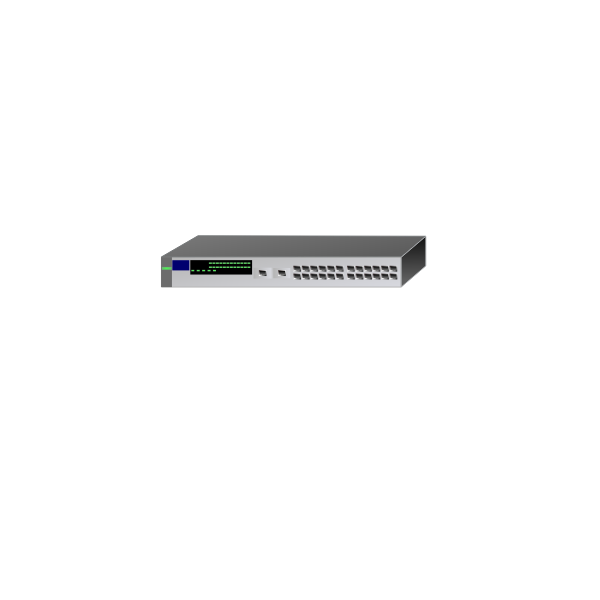 26-Port HP switch vector image