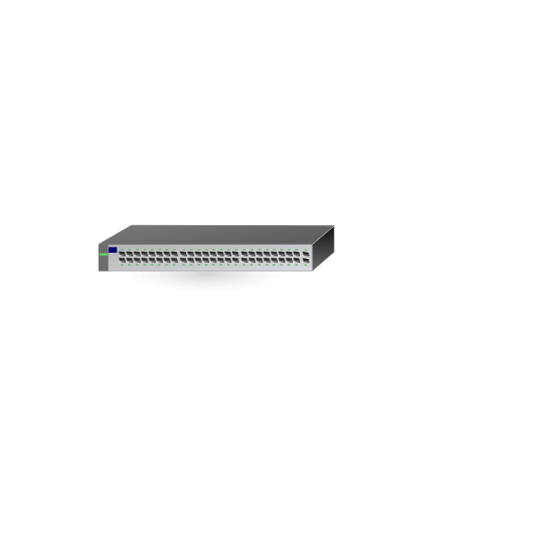 HP network switch hub vector image