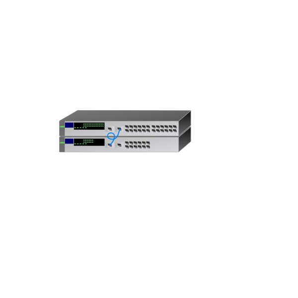 HP networking switches vector illustration