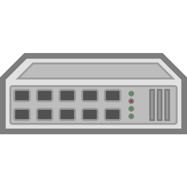 Network switch hub vector image