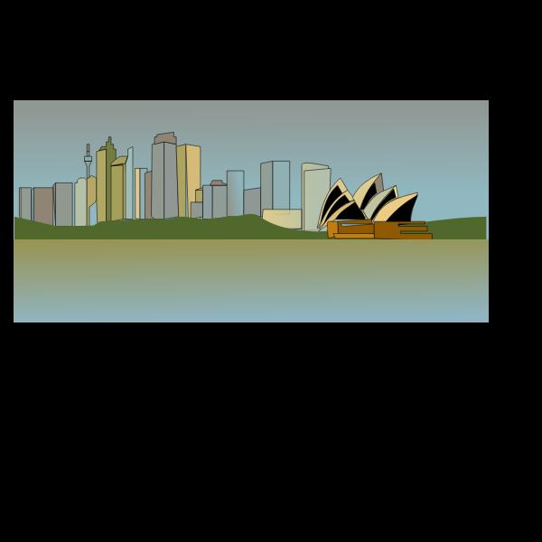 Vector image of Sydney skyline