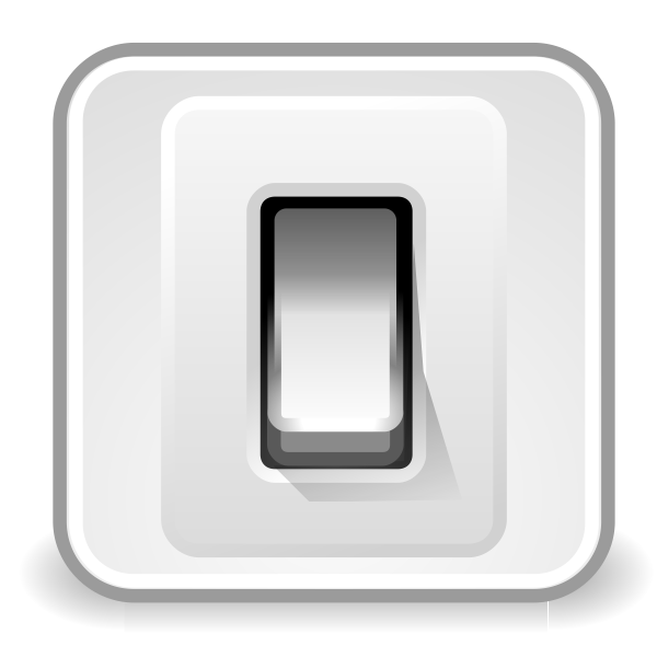 Tango system shut down icon vector illustration