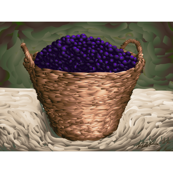 Plum basket vector image