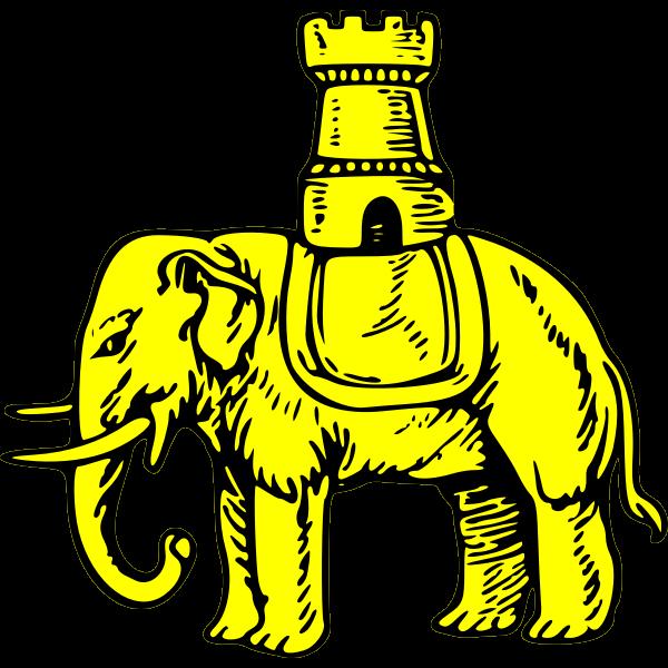 Yellow elephant vector graphics