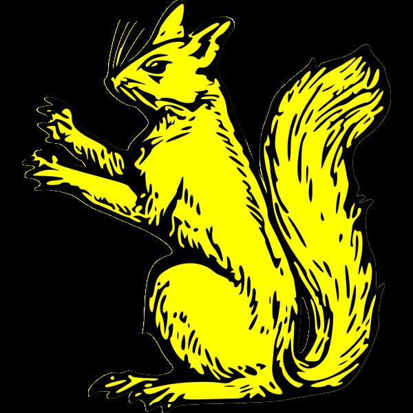 squirrel sejant erect