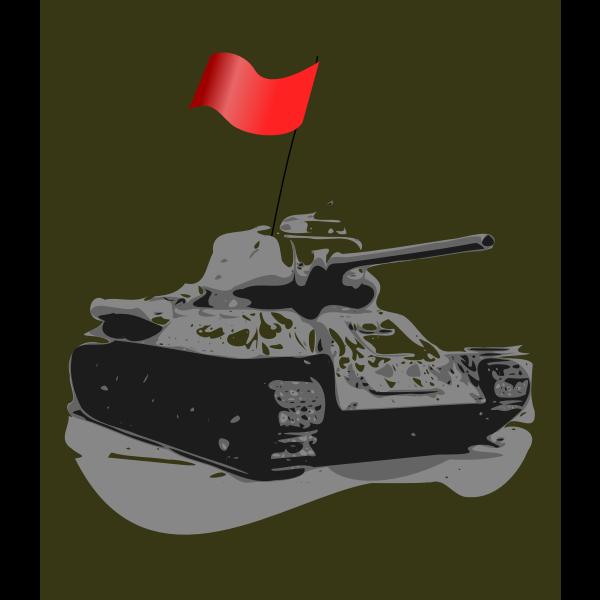 Tank T-34 1931 vector image