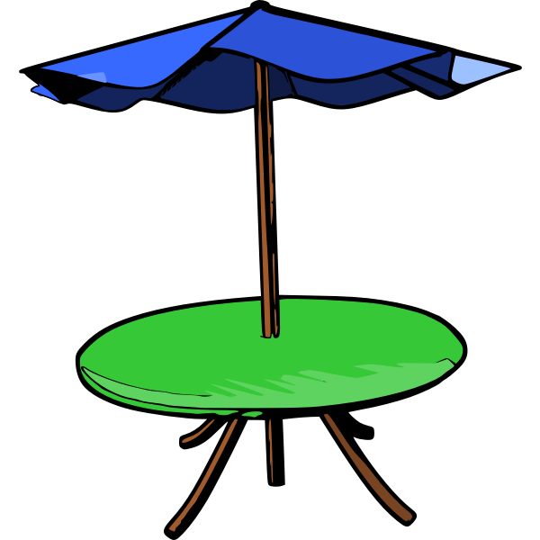 Table umbrella vector drawing