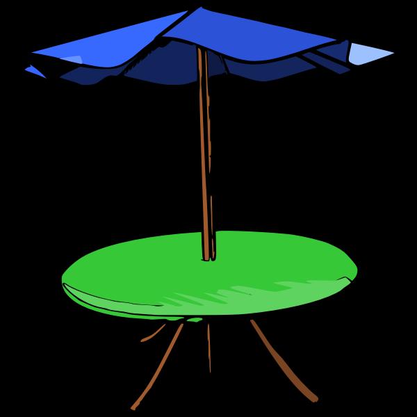 Table umbrella vector drawing