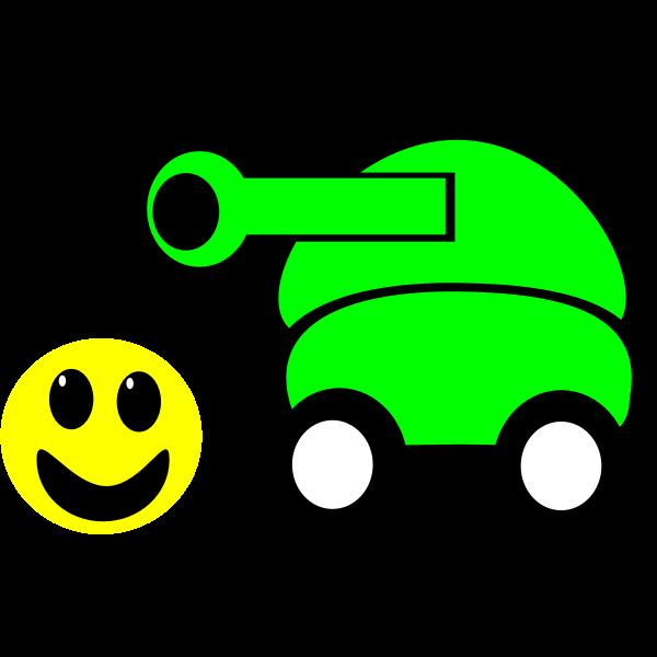 Cartoon military tank