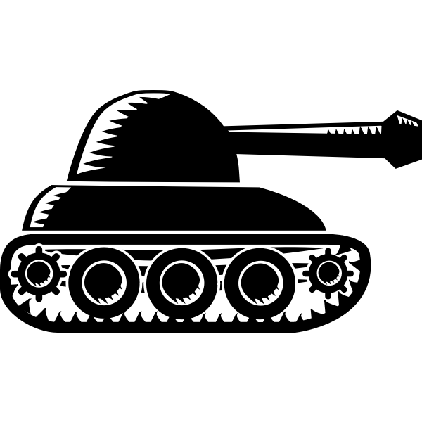 Rounded army tank vector image