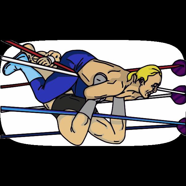 Professional wrestling maneuver vector image