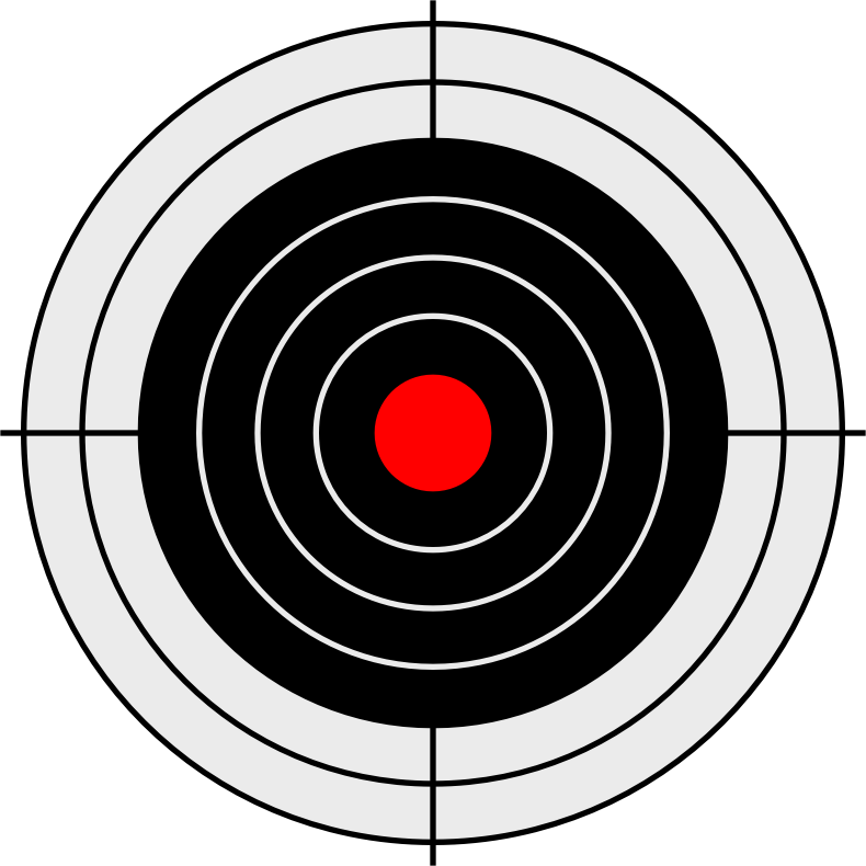Vector image of target