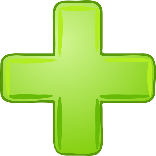 Green plus image