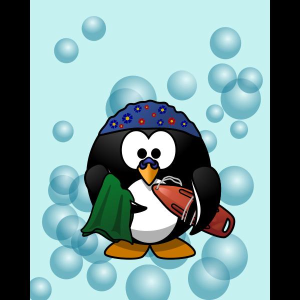 Swimmer penguin vector illustration