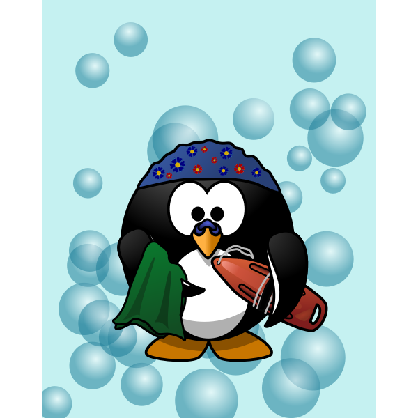 Swimmer penguin vector illustration