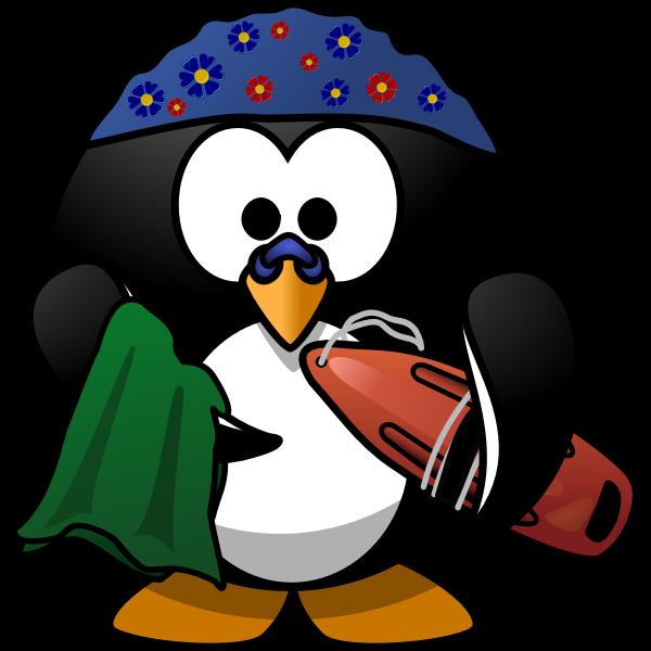 Swimmer penguin vector image