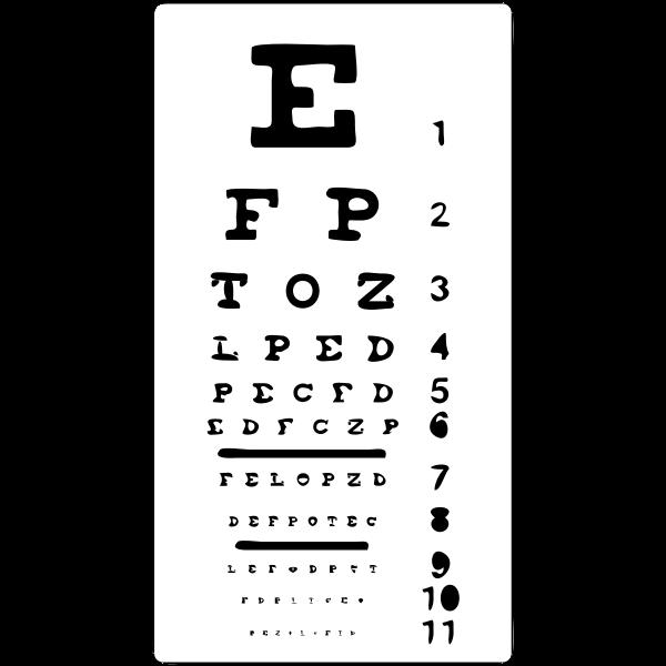 Eye test silhouette