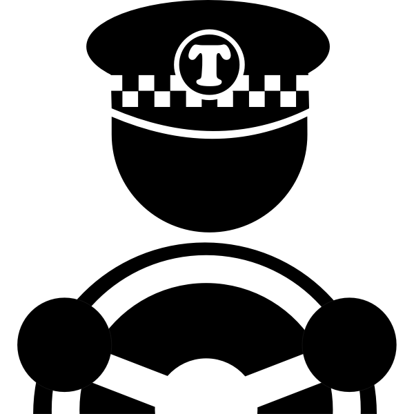 Cab driver vector image
