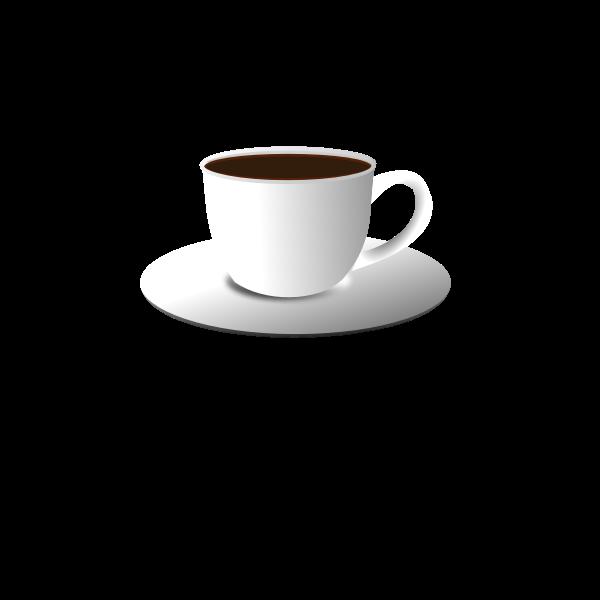 Black tea pot vector graphics