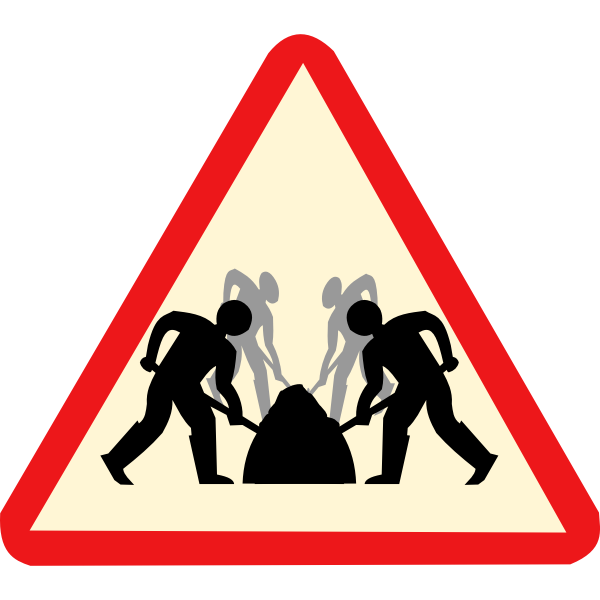 Teamwork roadsign vector image