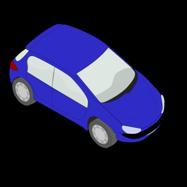 Peugeot 206 blue vector