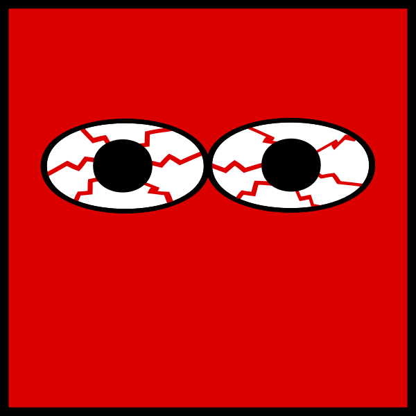 Eyes bloodshot vector image