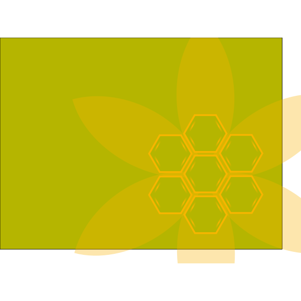 Green hexagon vector background