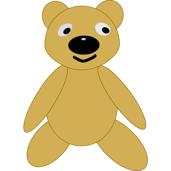 Vector clip art of simple brown teddy bear