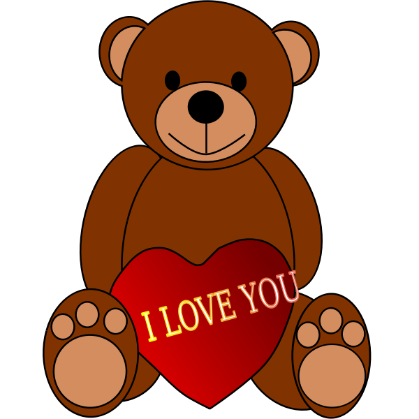Valentines Day Teddy Bear vector illustration