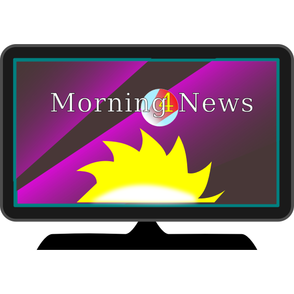 TV morning news vector image
