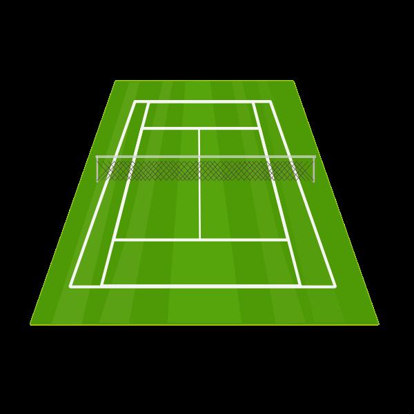 Grass tennis court vector illustration