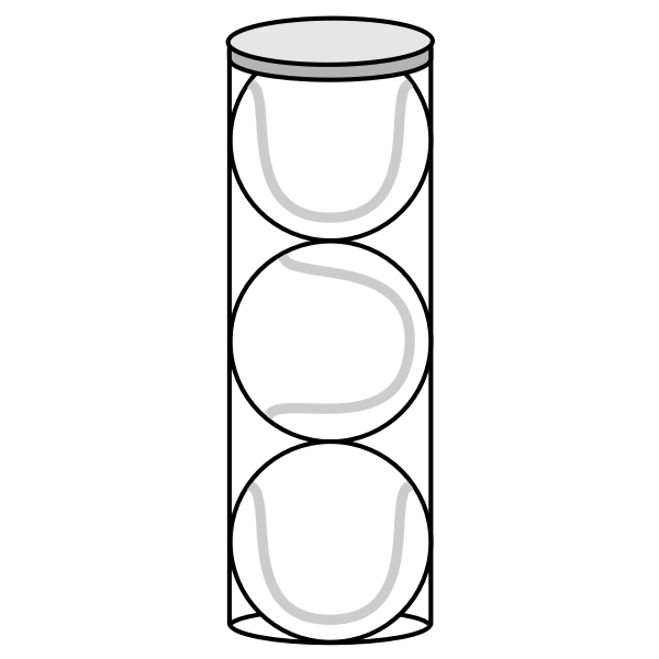 Tennis balls in a cylinder vector image