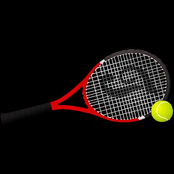 Tennis racket and ball vector clip art