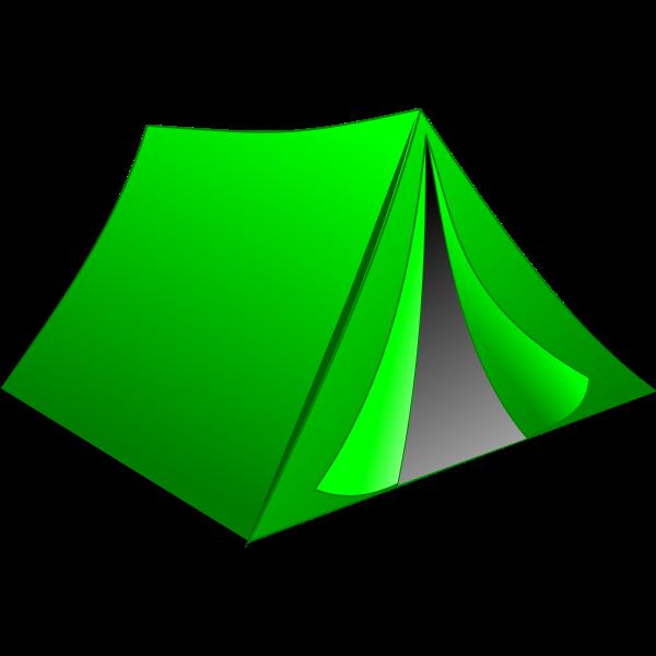 Green tent vector drawing