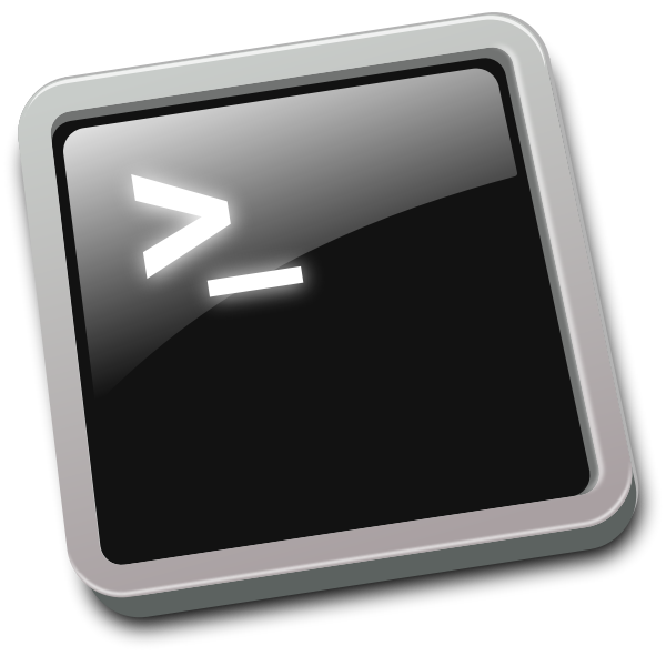 Tilted terminal window icon