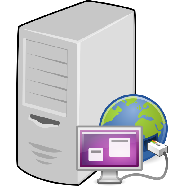 Terminal server vector clip art