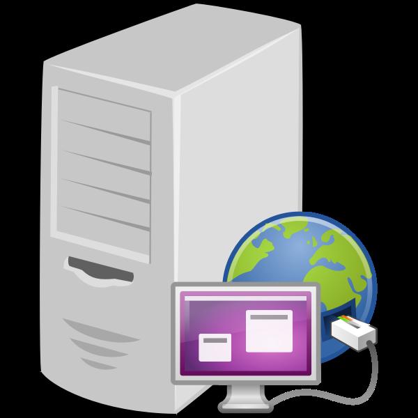 Terminal server vector clip art