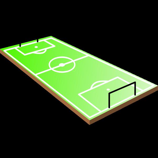 3D soccer field vector image