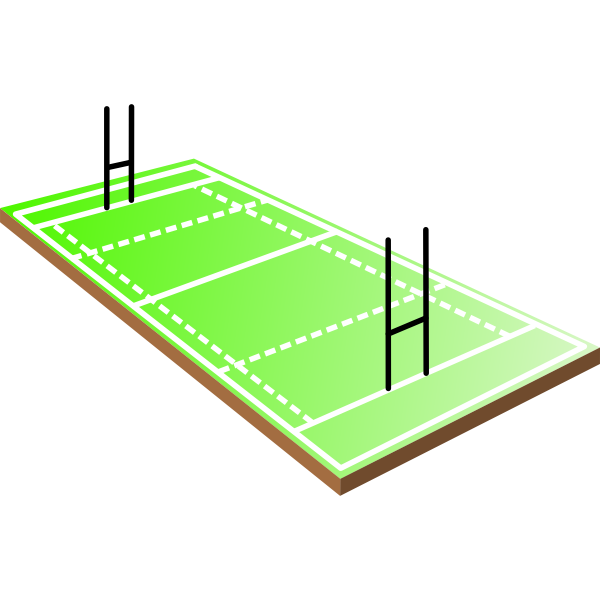 Rugby field vector illustration