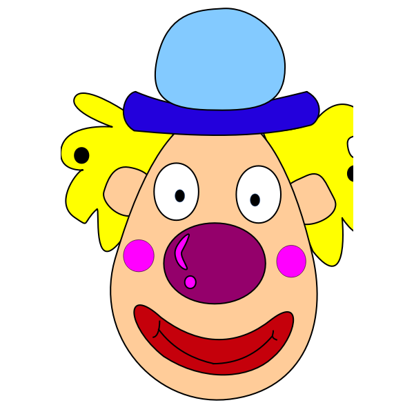 Vector clip art of clown head