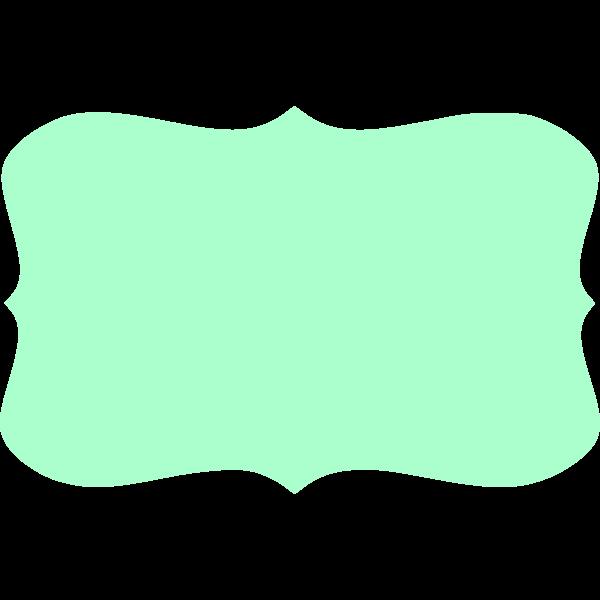 Green text banner