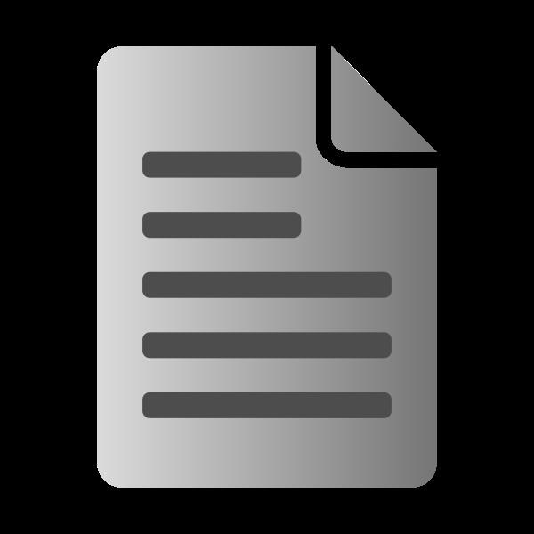 Grayscale text file icon vector clip art