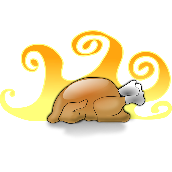 Baked turkey vector image
