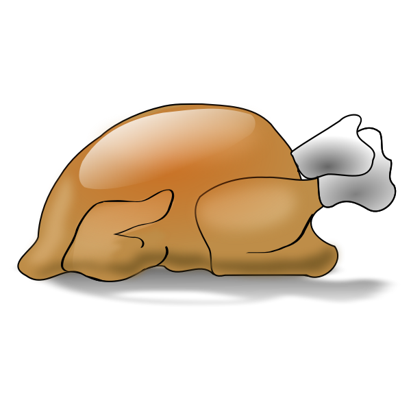 Thanksgiving day turkey vector drawing