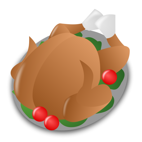 Thanksgiving day turkey serving vector icon