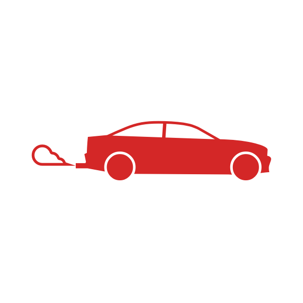 Car emissions vector sign
