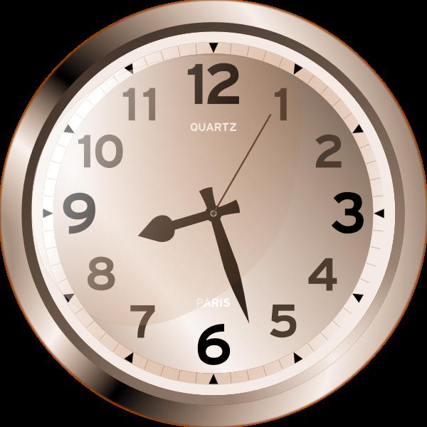 Quartz wall clock vector image