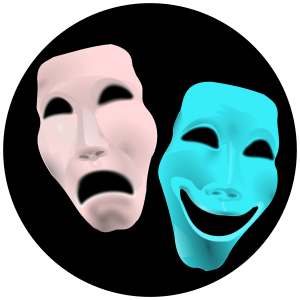 Theater masks vector clip art