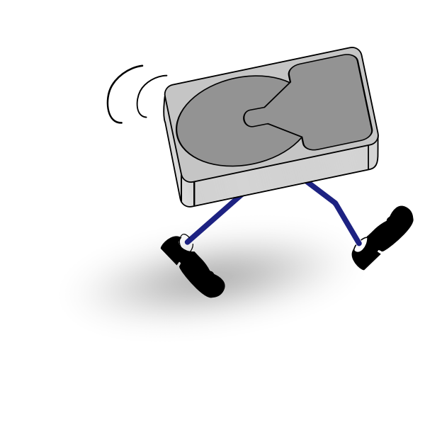 Walking disk drive
