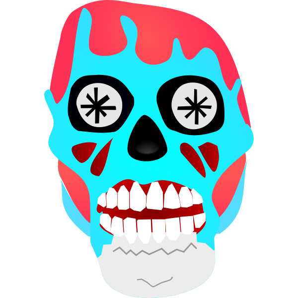 Alien mask vector illustration